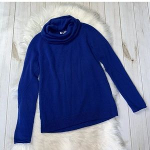 Joie 100% Cashmere Cowl Neck Royal Sweater